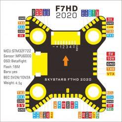 Skystars F7 Flight controller Pinout
